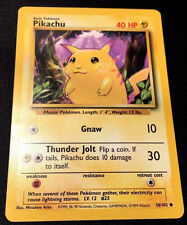 Pokemon Pikachu 58/102 Base Basic Set Card Mint