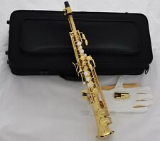 Professional Gold Eb Sopranino Saxophone Low Bb High E sax Italian pads New Case