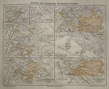 1890 ANTICA.TOPOGRAFICA=CARTA STORICA AUSTRIA-UNGHERIA
