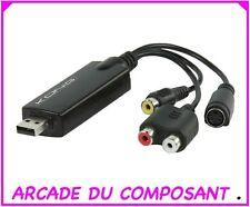 ADAPTATEUR CONVERTISSEUR VIDEO RCA AUDIO VIDEO VERS USB ( 79103-1)