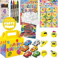 Boys Pre Filled Birthday Party Bags Boxes Activity Packs Kids Childrens