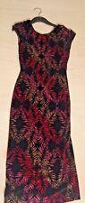 TOPSHOP RETRO GLITTER PRINT STRETCH BLACK LOW BACK PENCIL DRESS size 6 BNWT