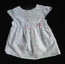 Baby clothes GIRL newborn 0-1m layered cotton dress F&F white triangles SEE SHOP