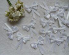 """1-1/8"""" Bridal Wedding White Satin Butterfly Ribbon Bows DIY-Lots 30Pcs (R0123W)"""