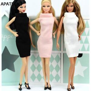 One Piece Fashion Evening Vestido Doll Princess Dress for 1/6 Barbie Doll Toys