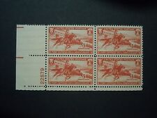 """#894 3c Pony Express Anniversary Plate Block MNH OG """"Includes New Mount"""""""