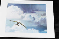 Air Force Lithograph Art Series 3 PRINT 17x23 c-5 U.S airplane spy plane