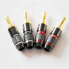 MONSTER GOLD Banana Plug Speaker Connector(2 pair)