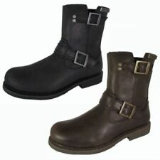 Leather Motorcycle Solid Boots for Men