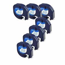 7pk 91331 Dymo Lt Letratag Refill Compatible Dymo Label Maker Tape 12mm Plastic