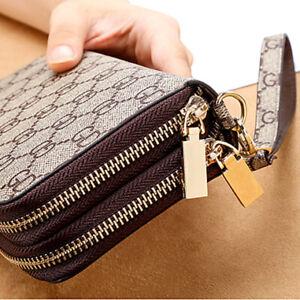 Fashion Women Wallet Large Capacity Clutch Purse Card Phone Holder Zip Handbag