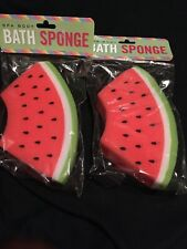 Set Of 2 Fun Whimsical Spa Body Large Watermelon Bath Sponges