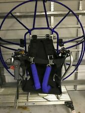 paraglider paramotorParaglider engine, frame, and harness, with tandem harness.