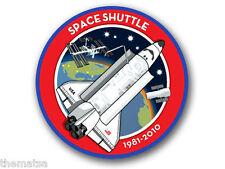 """4""""  SPACE SHUTTLE 1981-2010 NASA HELMET BUMPER EMBLEM DECAL STICKER MADE IN USA"""