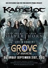 "KAMELOT ""NORTH AMERICAN SILVERTHORN TOUR 2013""ANAHEIM CONCERT POSTER-Power Metal"