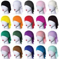 Ramadan Womens Under Scarf Bonnet Cap Bone Islamic Head Cover Hijab Wrap Hat New