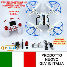 DRONE QUADRICOTTERO RADICOMANDATO CH-085 2,4Ghz CAMERA HD VIDEO E FOTO LED USB