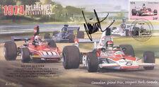 1974 MCLAREN-COSWORTH FERRARI 312B3 MOSPORT PARK F1 cover signed DIETER QUESTER