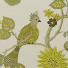 "STOUT NOSTALGIA CITRUS YELLOW FLORAL BIRD MULTIPURPOSE TWILL FABRIC BY YARD 54""W"