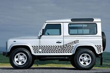 LAND ROVER DEFENDER 90 Aftermarket DECAL Stripes Sticker SET Tyre