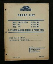 ORIGINAL 1965 FORD C4PD C5PD C4PC 330 361 391 V8 ENGINE PARTS CATALOG MANUAL