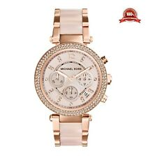 NUOVO MICHAEL KORS MK5896 Da Donna Parker Rose Gold Watch 2 anni di garanzia UK