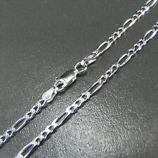 Figarokette Silberkette 3mm Echt 925 Sterlingsilber 60cm Halskette Silber Kette
