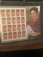 US Scott 3509 Frida Kahlo Artist MNH 34 Cent 34c Sheet of 20 Stamps