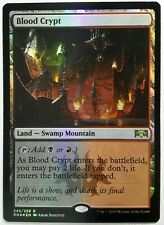 1x FOIL Blood Crypt Near Mint Magic standard shock land Ravnica Allegiance RNA