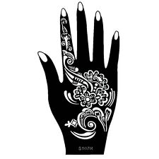 Henna Tattoo Schablone Hand Rechts Kina Handbemalung Dövme Mehndi