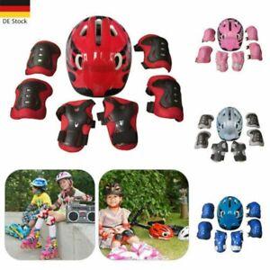 7 IN 1 Kinder Sport Helm Set Knie Schutz Skateboard Protektoren Set Fahrradhelme