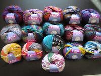 Filzwolle Wolle Strickwolle Basteln Spectra und Disegno von Lana Grossa 16 Farbe