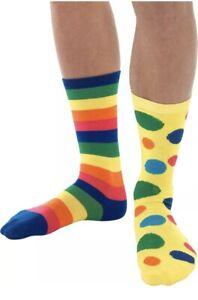 Big Top Clown Socks Adults Kids Circus Halloween Fancy Dress Accessory New