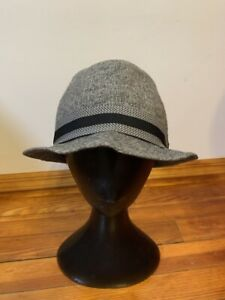 Stetson All American Trilby Fedora Gray Hat with Trim Band Size S/M