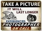 CAMERA PHOTOGRAPHER metal sign VINTAGE style RETRO film studio wall decor 230