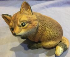 Sitting Fox Figurine Made In Mexico