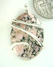 28.69ct Carved Rhodonite Scarab in Forged Sterling Silver