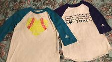 Adidas Softball Girls Shirts Size Youth Small Lot Of 2