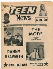 original USA Pop / Teen Magazine: Teen News Vol.2 No.3  (1966)  Barbarians etc.
