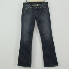 Guess Jeans Foxy Flare Distressed Blue Stretch Denim Jeans Size 28