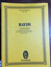 Haydn Trumpet Concerto Eb miniature study score Eulenburg