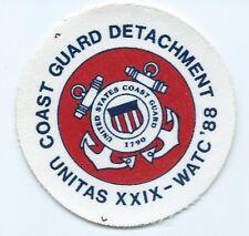 Uscg United States Coast Guard Patch Unitas Xxix Watc 88 Detachment 3-3/8 #2347