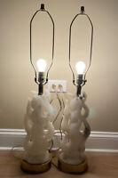 Maurizio Tempestini La Fiamma Flames 1940s Alabaster Sculpture Lamps Rare