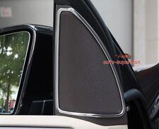 Matt Chrome Front Door sound Stereo Speaker Cover trim Benz ML W166 ML350 2012+