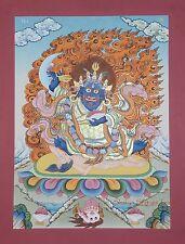 "17.25"" x 13.25"" Bernagchen Mahakala Buddhist Thangka/Thanka Scroll Painting"