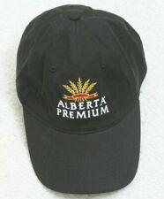 Alberta Premium Whisky Black Hat Baseball Style One Size Adjustable Strapback