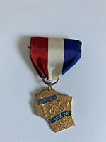 Vintage Wisconsin State Solo Ensamble Music Medallion Pin Ribbon Medal Badge