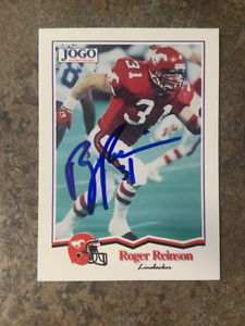 signed in person   ROGER REINSON  CFL  Calgary Stampeders   JOGO # 244   1994