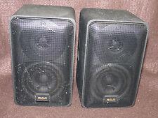 Radio Shack RCA 40-5000  Black Metal Satellite Surround Speakers