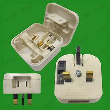 Blanco 2 Pin Estados Unidos Japón China-Uk 3 Pin red fusiona Plug Converter Adaptador De Viaje